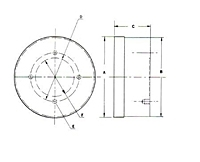 Picture of FP 8 RD , High Power Fine Pole Rotary Chuck