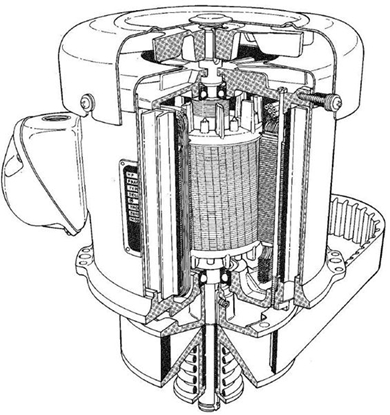 Picture of F537 , Brigeport Head Motor 2Hp
