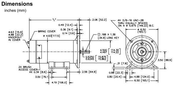 Picture of 8000-33 , Cycletrol Permanent Magnet DC Motor