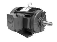 General Purpose Three Phase Totally Enclosed Fan Cooled (TEFC) Severe Duty NEMA Premium ® Efficient –  IE3, All Cast Iron e-Line C-Face Footed Motors